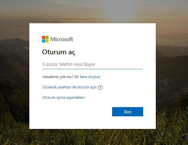 Microsoft Oturum Aç