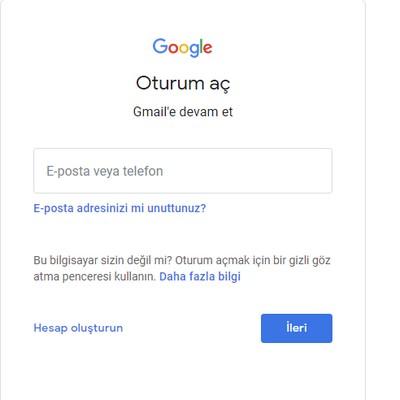 gmail gelen kutusu giriş
