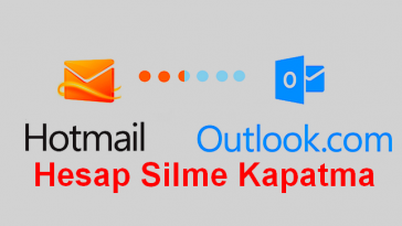 hotmail outlook hesap silme kapatma