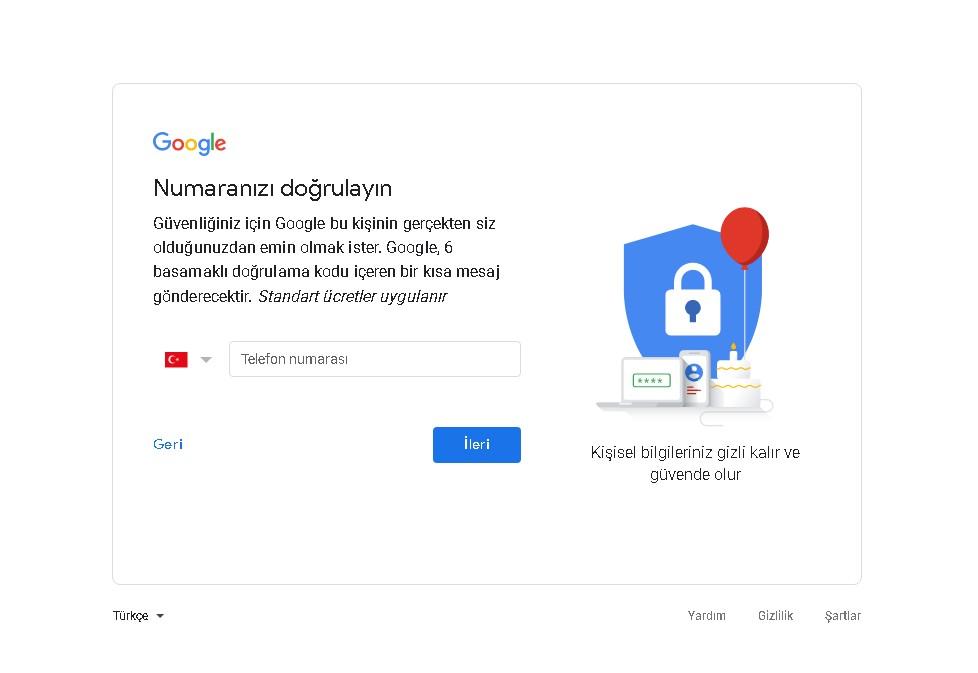 gmail eposta aç
