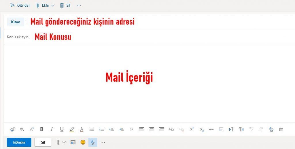 hotmail word gönderme