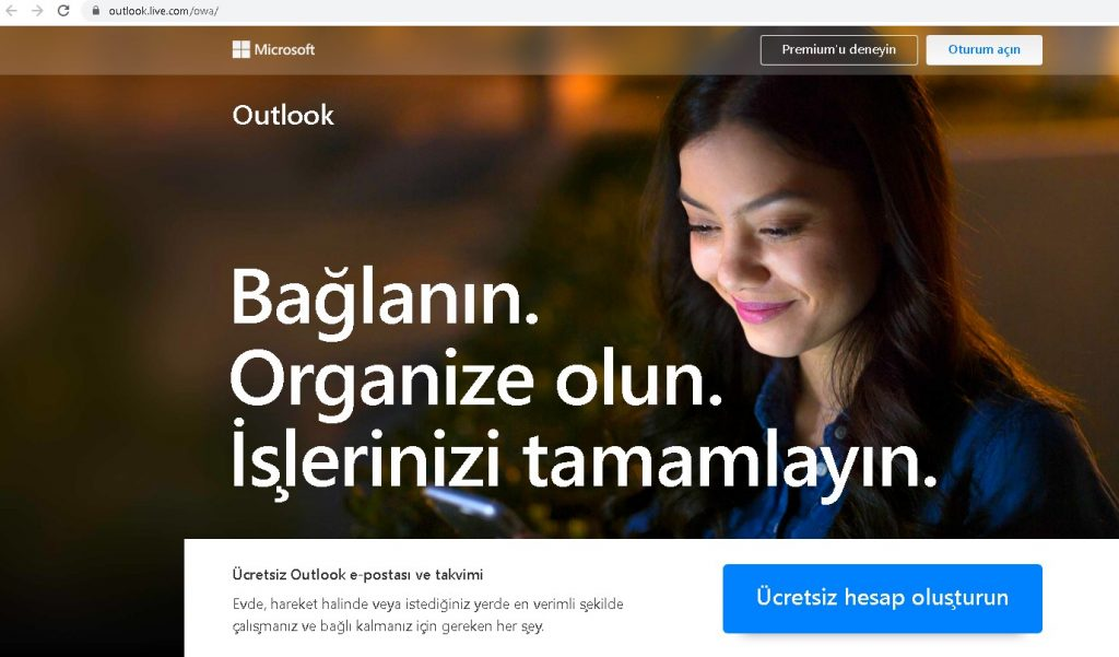 outlook mail oluştur