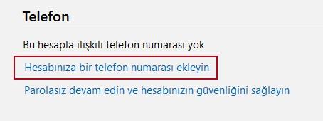 telefon numarası ekleme