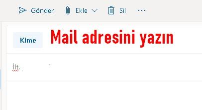 mail iletmek