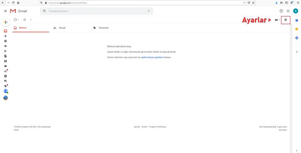 gmail mail toplama