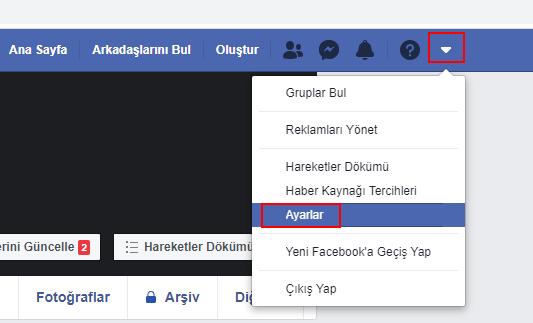 facebook silme işlemi